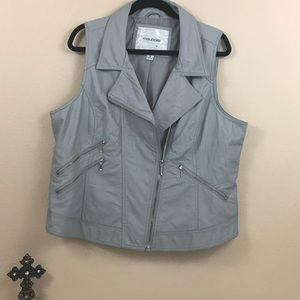 Maurices Motorcycle style vest. Grey. Size 2.  C20